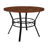 "Flash Furniture Tremont 42"" Round Dining Table in Swirled Chocolate Marble-Like Finish"