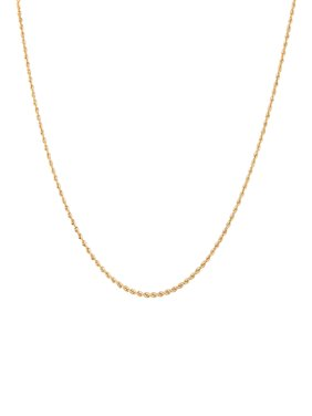 """Simply Gold 10K Yellow Gold 18"""" 1.51MM Rope Chain"""