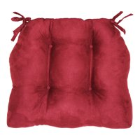 "Brentwood Originals Faux Suede Chair Pad, 16""L x 14.5"" W, Mulberry"