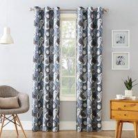 No. 918 Julene Grommet Woven Print Curtain Panel