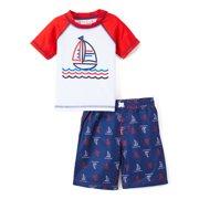 298714d126 Freestyle Revolution Graphic Rashguard & Swim Trunks, 2pc Set (Baby Boys &  Toddler Boys