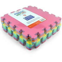 Matney Foam Floor Puzzle-Piece Play Mat, Great for Kids to Learn and Play, 9 Tile Pieces