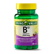 Spring Valley Vitamin B12 Tablets, 2500 mcg, 60 Ct