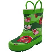 ddea258e48c Norty New Toddlers   Little   Big Kids Boys Girls Waterproof Rubber Rain  Boots