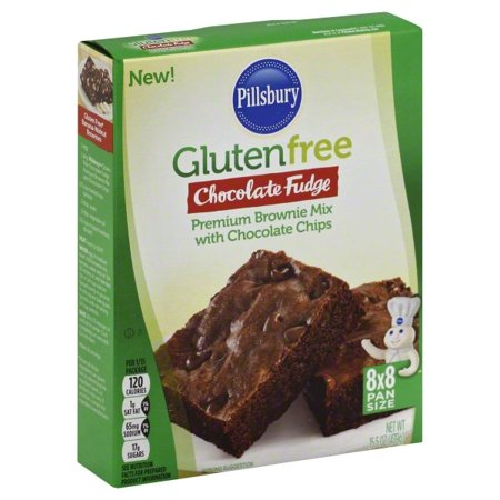 - (4 Pack) Pillsbury Gluten Free Chocolate Fudge Brownie Mix, 15.5oz