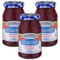 (3 Pack) Smucker's Strawberry Sugar Free Preserves, 12.75-Ounce