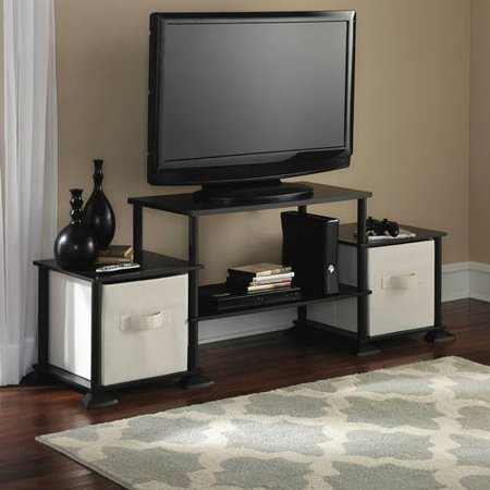 Mainstays No-Tools Assembly Entertainment Center, Multiple Sizes and Colors ()