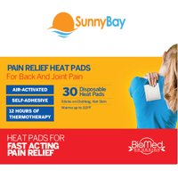 Sunny Bay Self Adhesive Body Heat Patches: (Pack of 30) Air Activated Disposable Therapy Pads for Sore Upper Back, Neck & Shoulder Pain Relief & Menstrual Cramps
