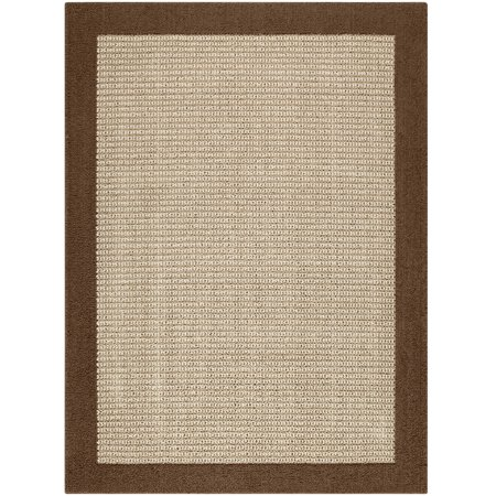 Mainstays Faux Sisal Olefin High Low Loop Tufted Area Rug or Runner - Grape Round Rug
