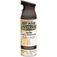 Rust-Oleum Universal All Surface Satin Espresso Brown Spray Paint and Primer in 1, 12 oz