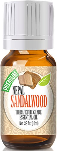 Healing Solutions - Sandalwood (Nepal) Oil (10ml) 100% Pure, Best Therapeutic Grade Essential Oil - 10ml
