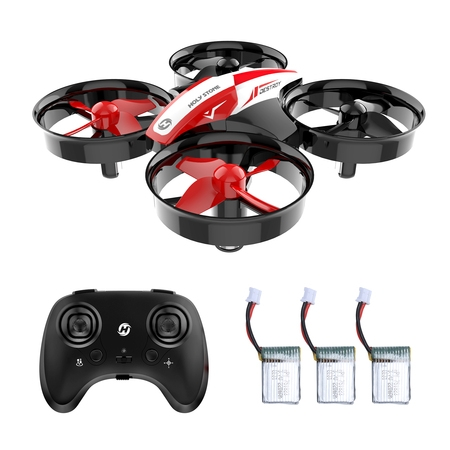 Holy Stone HS210 Mini Drone RC Nano Quadcopter Best Drone for Kids and Beginners RC Helicopter Plane with Auto Hovering, 3D Flip, Headless Mode and Extra Batteries Toys for Boys and