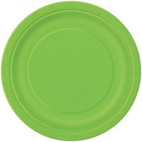 Paper Plates, 9 in, Lime Green, 16ct