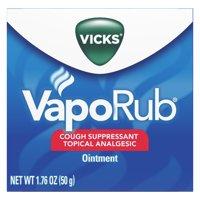 Vicks VapoRub Cough Suppressant Topical Analgesic Ointment 1.76 oz