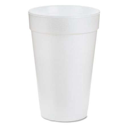Dart Foam Drink Cups, 16 ounce, White, 1000/Carton -