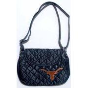 6dbc12145 NCAA Texas Longhorns Quilted Saddlebag Purse Cross Body Bag Embroidered Logo
