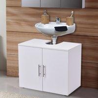 Costway Non Pedestal Under Sink Bathroom Storage Vanity Cabinet Space Saver Organizer