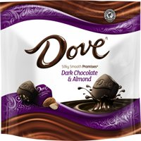 (2 Pack) Dove Promises, Dark Chocolate Almond Candy, 7.61 Oz