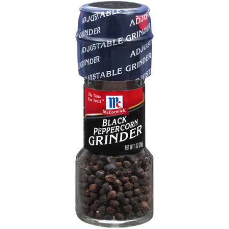 (2 pack) McCormick Black Pepper Grinder, 1 oz (Pepper Flatbread)