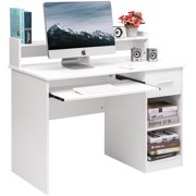 09f34d7be14 ModernLuxe Computer Desk Office Home Furniture Writing Desk with Hutch and  Keyboard Tray