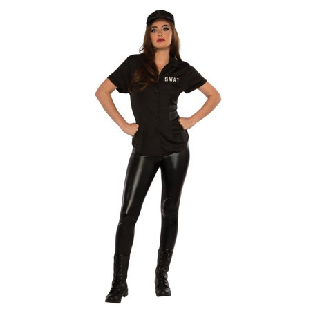 Halloween SWAT Shirt Adult Costume](Swat Costume Vest)