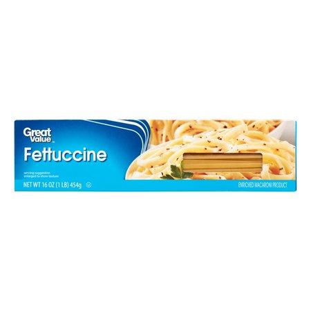 (6 Pack) Great Value Fettuccine, 16 oz