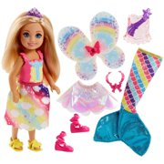 d74751e03cb Barbie Rainbow Cove Chelsea Dress Up Doll with 3-Themed Outfits