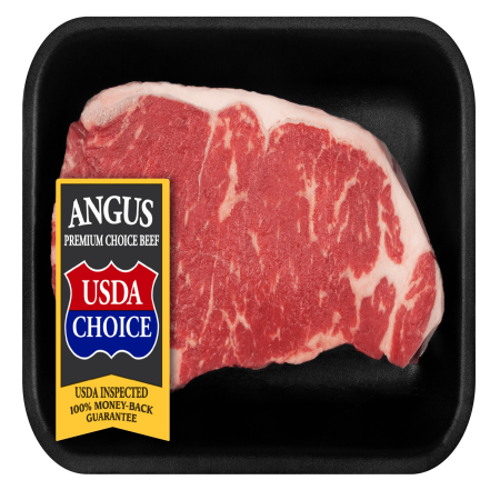 Beef Choice Angus New York Strip Steak Thick, 0.5 - 1.04 lb