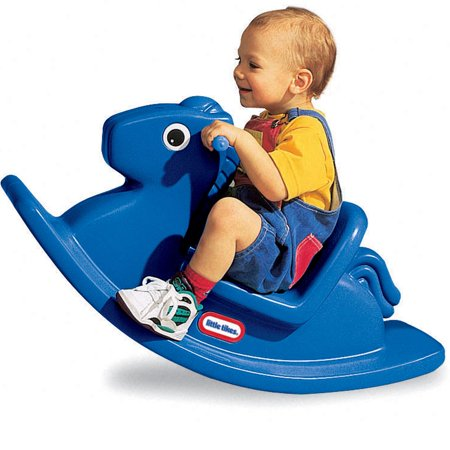 Little Tikes Rocking Horse, Primary Blue ()