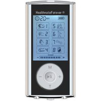 HealthmateForever HM8GL TENS Muscle Recovery & Pain Therapy Device (Silver)