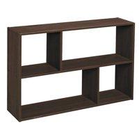 ClosetMaid Cubeicals Mini Off-Set Cube Organizer, Espresso