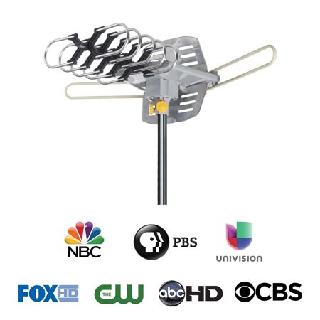 Onn 4K Hd Motorized Outdoor TV Antenna With 150-Mile (Best Antenna For Non Cable Tv)