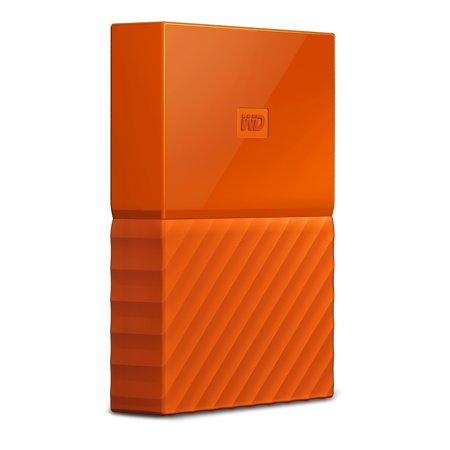 Passport 8500 Accessories - WD 4TB Orange My Passport Portable External Hard Drive - USB 3.0 - Model WDBYFT0040BOR-WESN