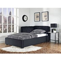 Tufted Lounge Reversible Bed, Black, Multiple Sizes