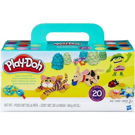 Play-Doh Super Color 20 Pack with 20 Different Colors of Dough, 60oz - Ninja Turtle Play Doh