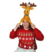 7dc0af83646 Beistle Christmas Funny Moose Plush One Size 13