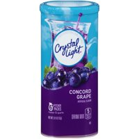 (6 Pack) Crystal Light Concord Grape Drink Mix, 6 count Canister