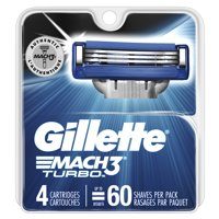 Gillette Mach3 Turbo Men's Razor Blades (Choose Count)