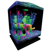 GloFish 1.5-Gallon Aquarium Starter Kit w/ Hood, LEDs & Whisper Filter