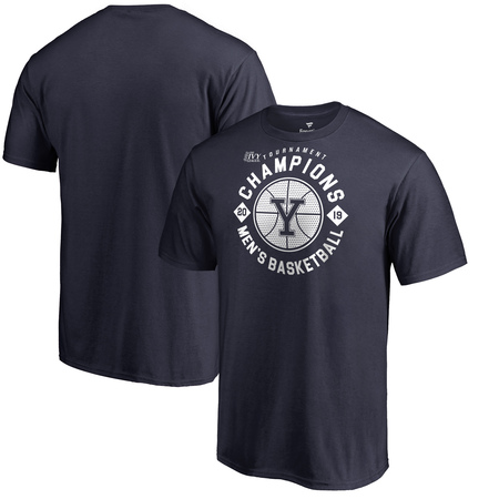 Yale Bulldogs Fanatics Branded 2019 Ivy League Men's Basketball Conference Tournament Champions Big & Tall T-Shirt - Navy