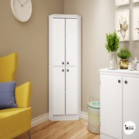South Shore Morgan 4-Door Corner Pantry, Multiple Finishes