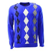 be1cb92f850a Club Room NEW Blue Grey Mens Size XL V-Neck Argyle Knit Pullover Sweater $49