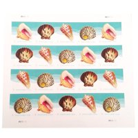 POSTCARD Postage Stamps Seashells 1 Sheet of 20 USPS First Class Forever Sand Sun Beach Fun Ocean (20 Stamps)