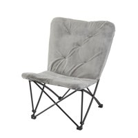 Mainstays Memory Foam Folding Butterfly Lounge Chair, Multiple Colors