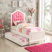 Cherub Twin Size Bed With Trundle In Pink And White