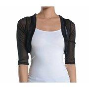 eccbc7bbc85077 Fashion Secrets Women s Sheer Chiffon Bolero Shrug Jacket Cardigan 3 4  Sleeve (Large