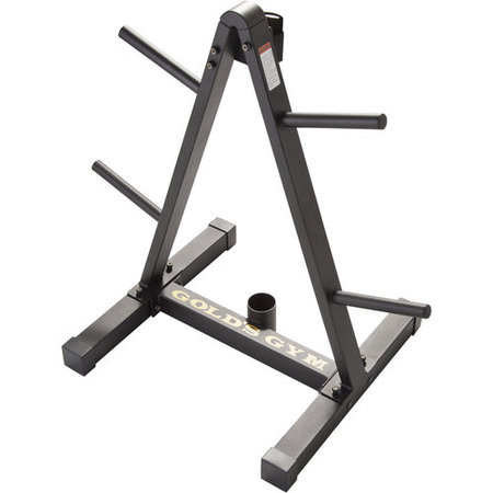 Gold's Gym Weight Plate and Barbell Storage Rack with Compact Design ()