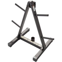 Gold's Gym Weight Plate and Barbell Storage Rack with Compact Design
