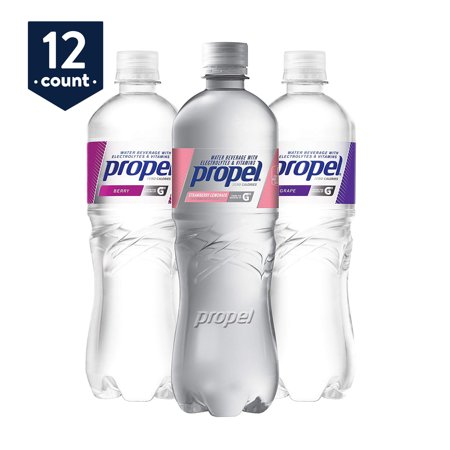 - Propel, 3 Flavor Variety Pack, Zero Calorie Water Beverage with Electrolytes & Vitamins C&E, 24 oz Bottles (Pack of 12)