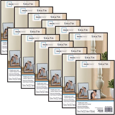 Mainstays 5 X 7 Format Picture Frame Black Set Of 12 Walmartcom